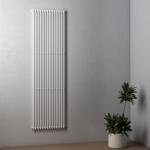 Termoarredo a tubi verticali in acciao bianco h.200cm