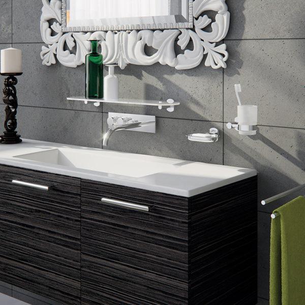 Scopino WC d'appoggio con ciuffo in setole serie Edera plus Gedy ED34
