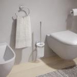 Scopino WC da muro con ciuffo in setole serie Eros Gedy