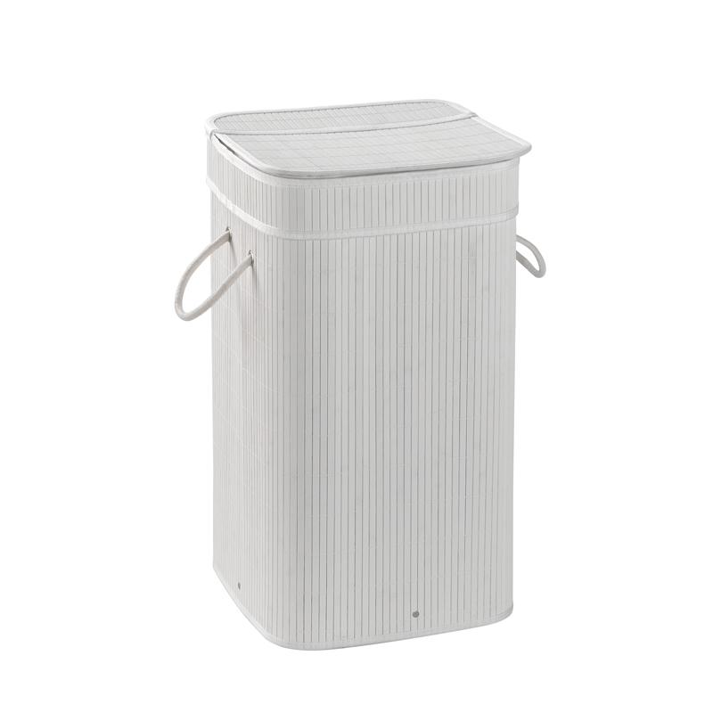Cesto portabiancheria con sacchetto estraibile serie Tatami Gedy Bianco
