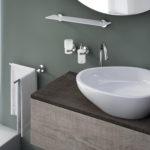 Scopino WC d'appoggio con ciuffo in setole serie Felce Gedy FE33