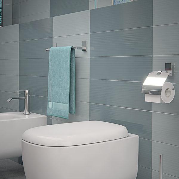 Scopino WC d'appoggio con ciuffo in setole serie Maine Gedy