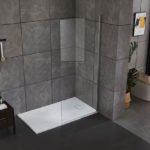 Piatto doccia in acrilico effetto pietra colore bianco