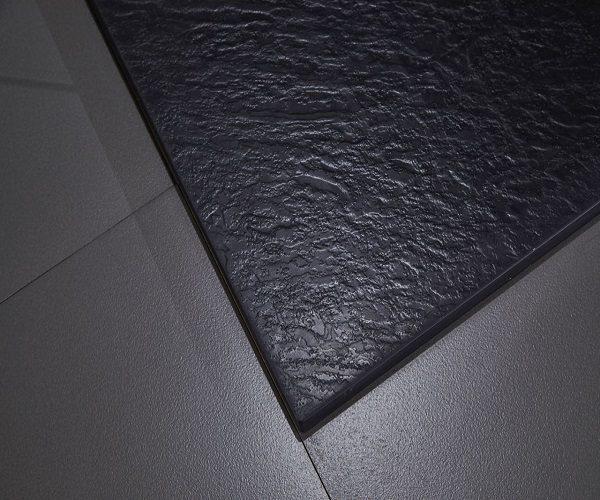Piatto doccia in acrilico effetto pietra colore antracite