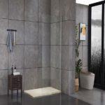 Piatto doccia in acrilico effetto pietra colore beige