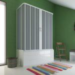 Porta vasca in PVC angolare a soffietto