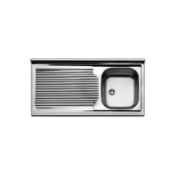 Lavello inox da mobile cm 100 scolapiatti gocciolatoio a sinistra