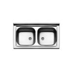 Lavello inox da incasso cm 86x50 a due bacinelle