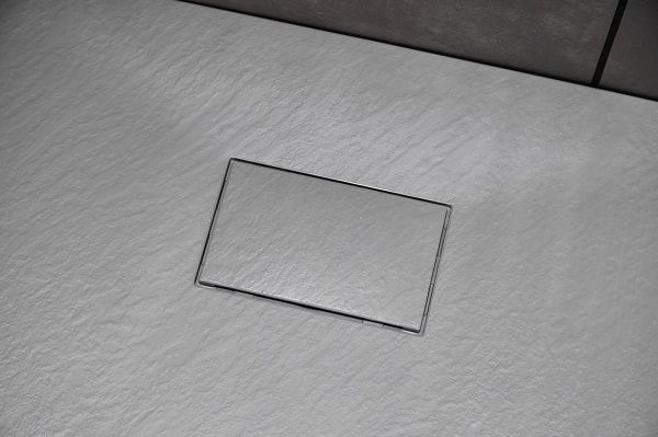 Piatto doccia in acrilico effetto pietra colore grigio