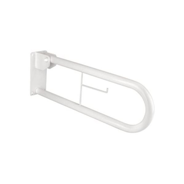 Barra di sostegno ribaltabile 70 cm. per disabili con portarotolo