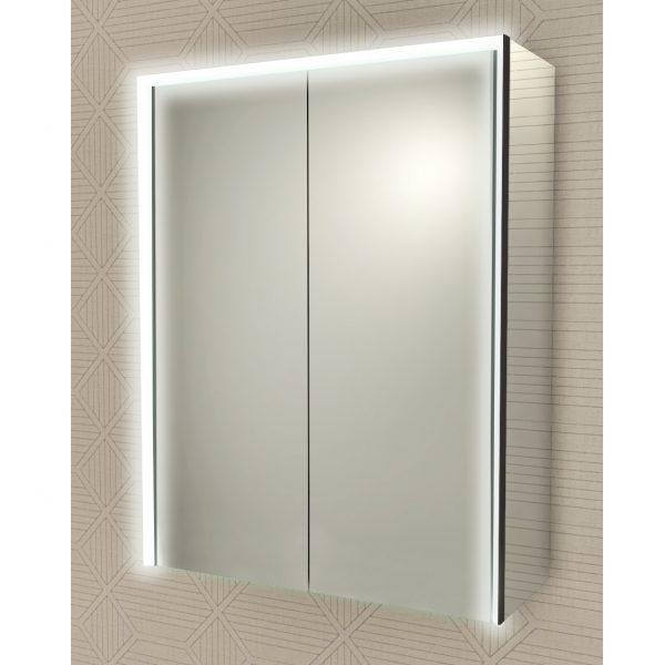 specchio badenhaus bagno due ante cornice luce led 84251