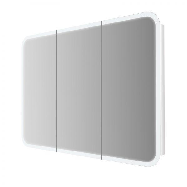 specchio bagno badenhaus cornice luce led tre ante 84216 1