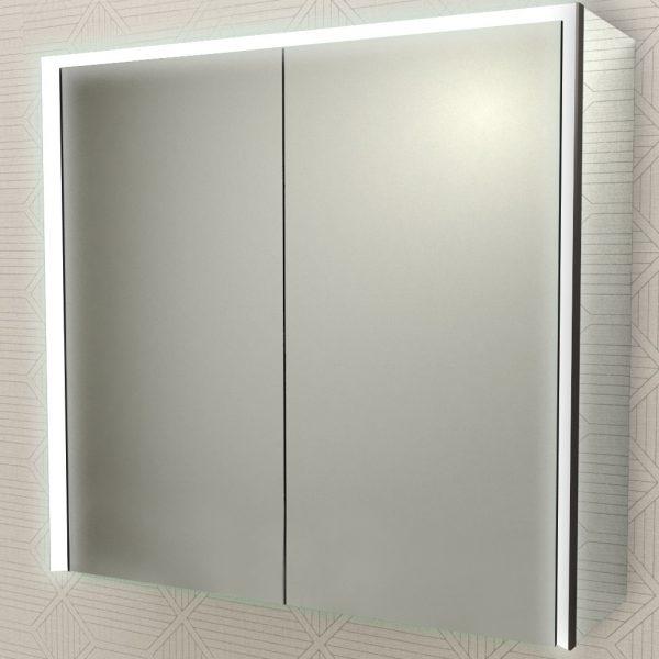specchio bagno badenhaus luce led due ante 84253