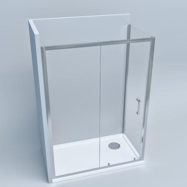 Box doccia due lati fisso + scorrevole