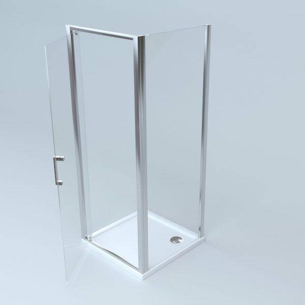 box doccia 2 lati: lato fisso + porta battente