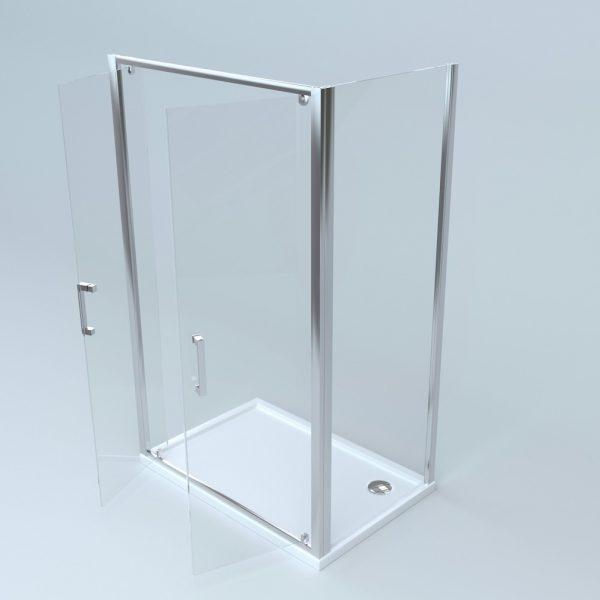 Box doccia lato fisso + due battenti