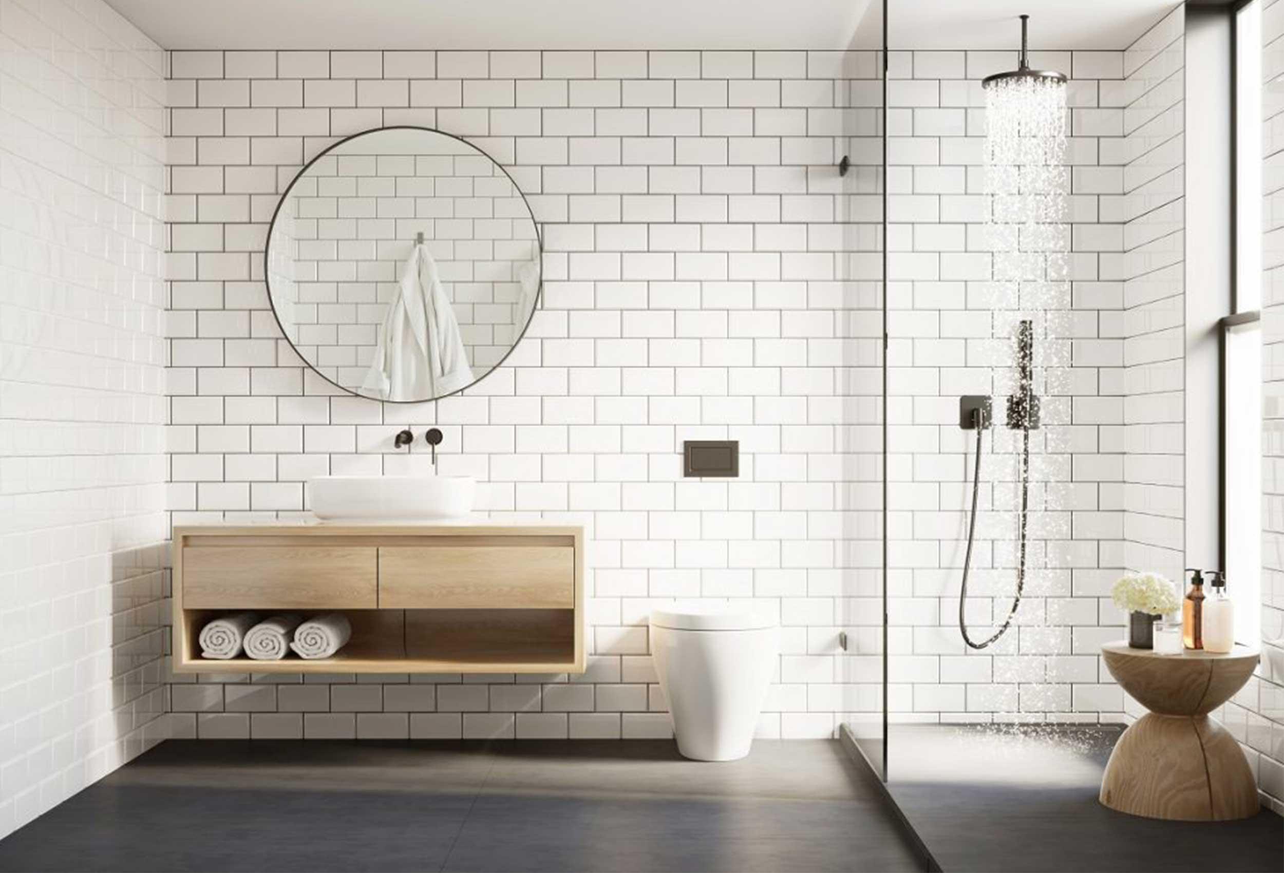 bathroom bagno ambiente soffione doccia