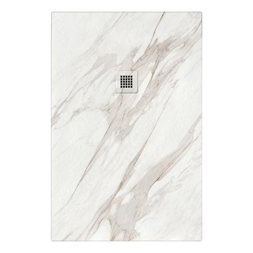 piatto doccia effetto marmo bianco calacatta